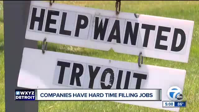 Companies having a hard time filling jobs