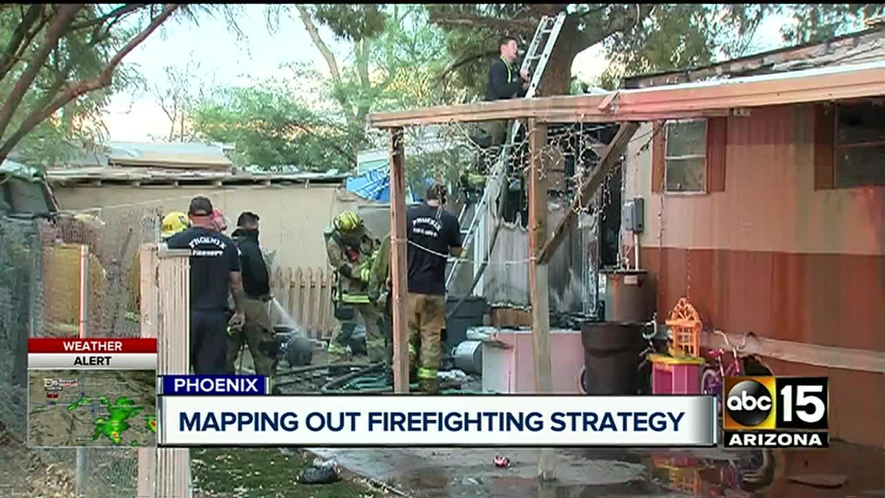 FD: 2 families out on street after fire at mobile home park