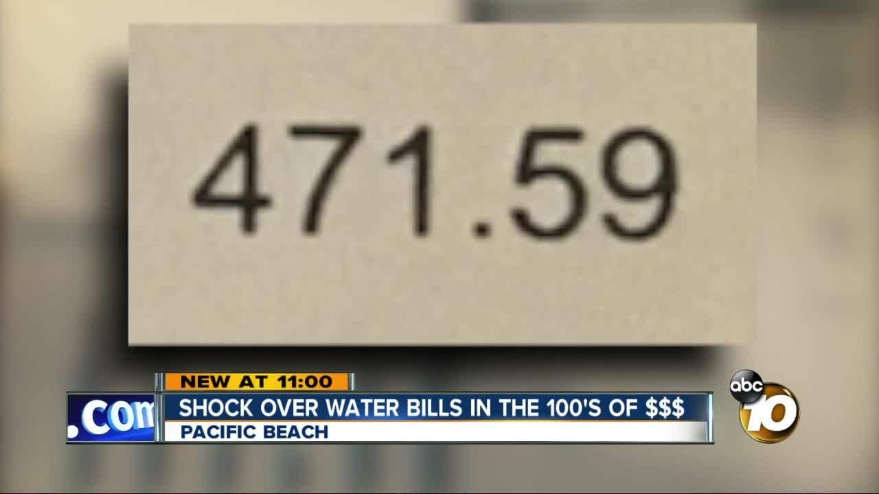 Shock over water bills in Pacific Beach