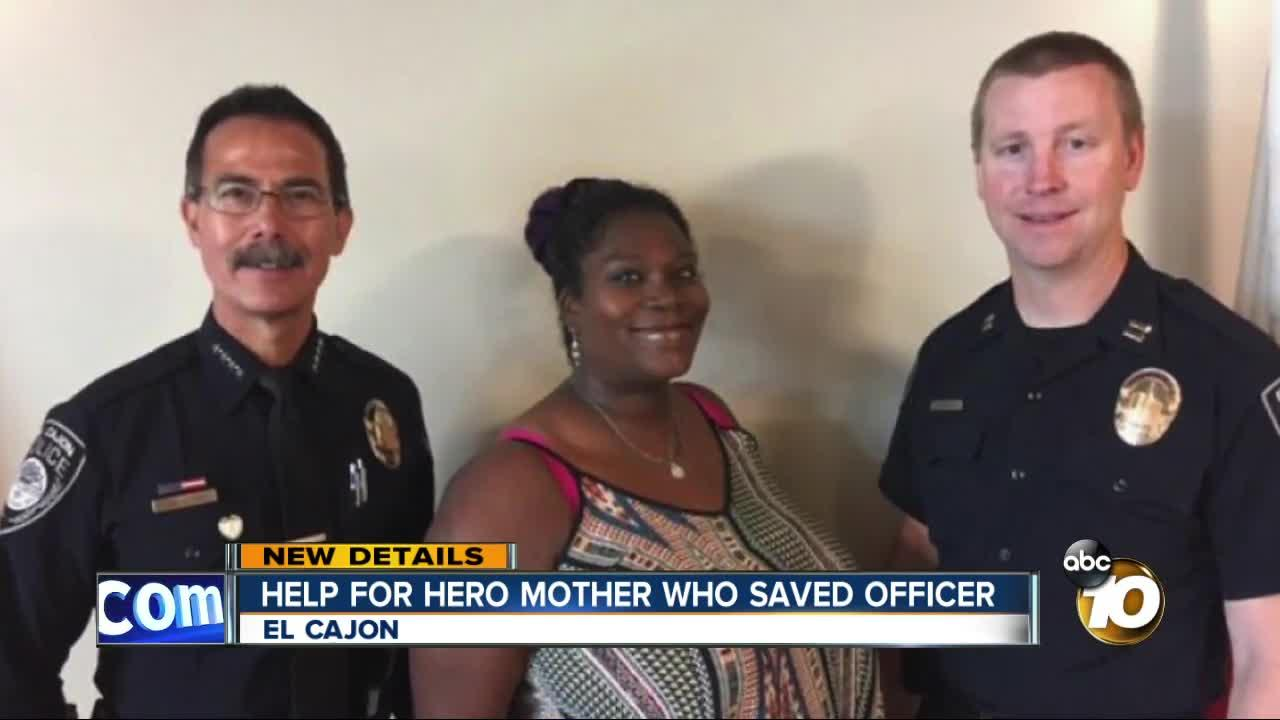 Help for hero who saved El Cajon police officer