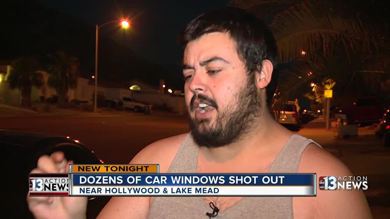 Vandals shoot out car window in east Vegas neighborhood