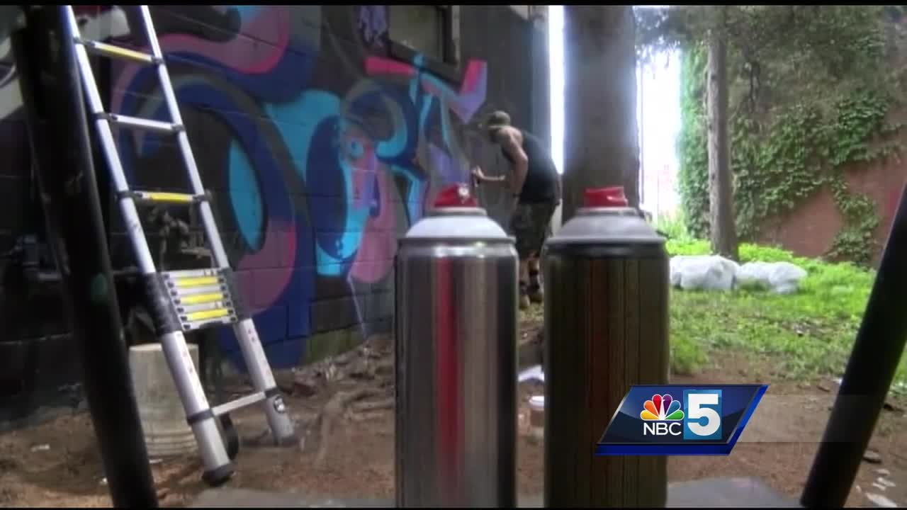 Mural in Burlington aimed to prevent graffii
