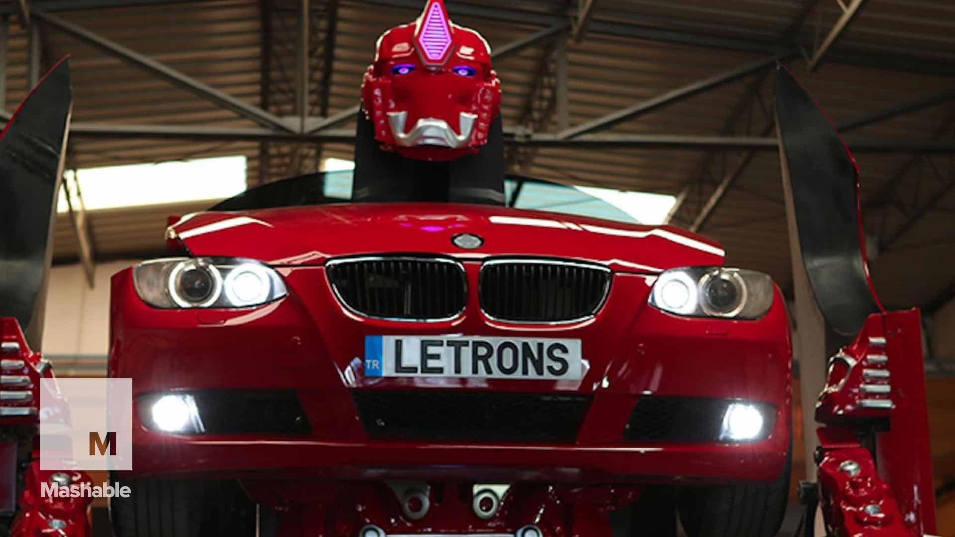 It takes 30 seconds for this BMW to morph into a real-life Transformer