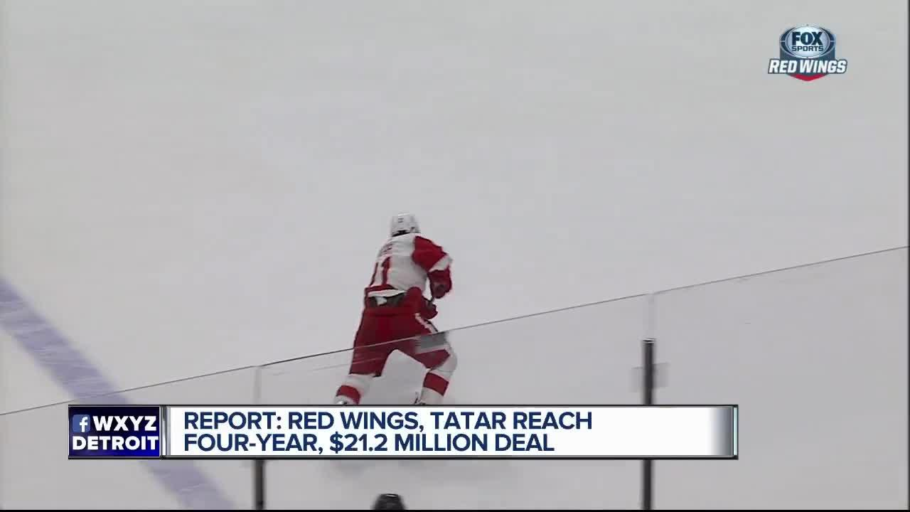 Tomas Tatar agrees to four-year deal with Red Wings