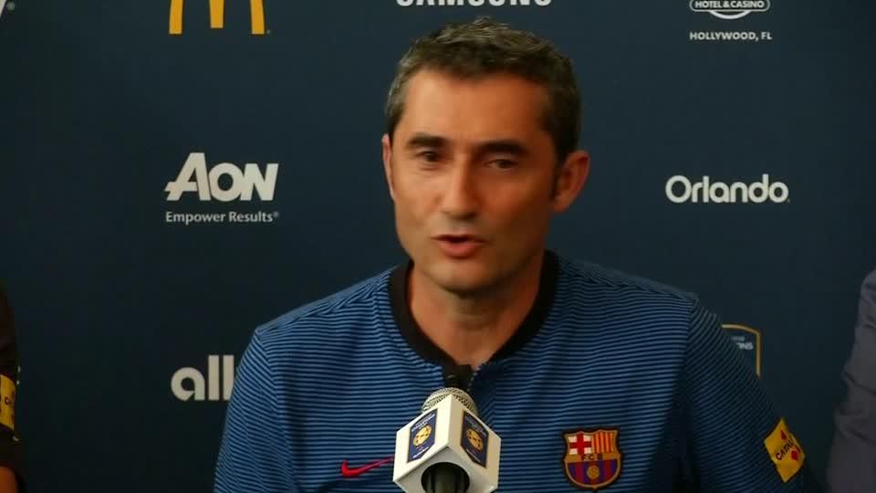 Barcelona's Valverde pressed on Neymar rumours