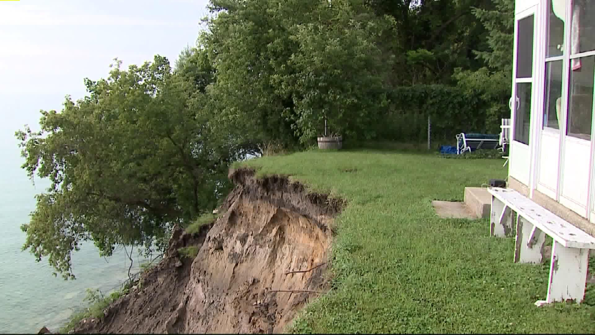 Residents Nervous as Lake Michigan Bluff Erosion Moves Closer to Homes