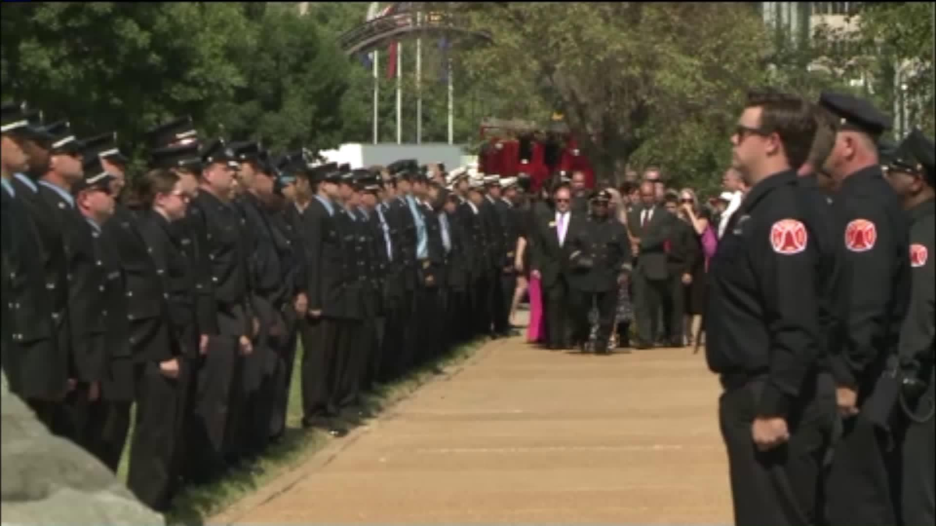 Family, Fellow Firefighters Attend Funeral For St. Louis Fire Captain