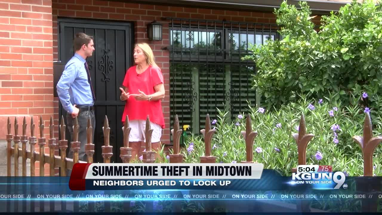 Summertime burglaries up in Midtown neighborhood