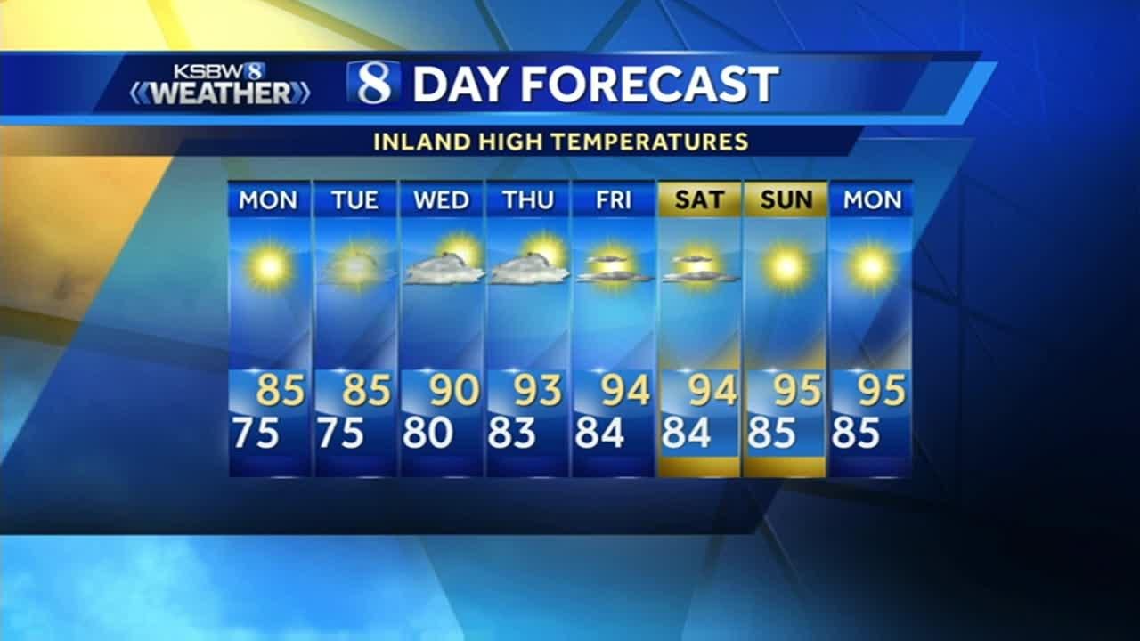 Watch your local evening forecast on KSBW 07.23.17