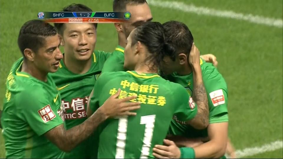 Soriano double sees Beijing Guoan edge past Shanghai Shenua in Chinese Super League