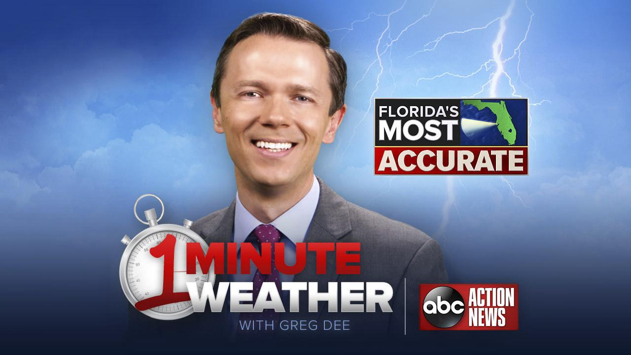 Florida's Most Accurate Forecast with Greg Dee on Monday, July 24, 2017