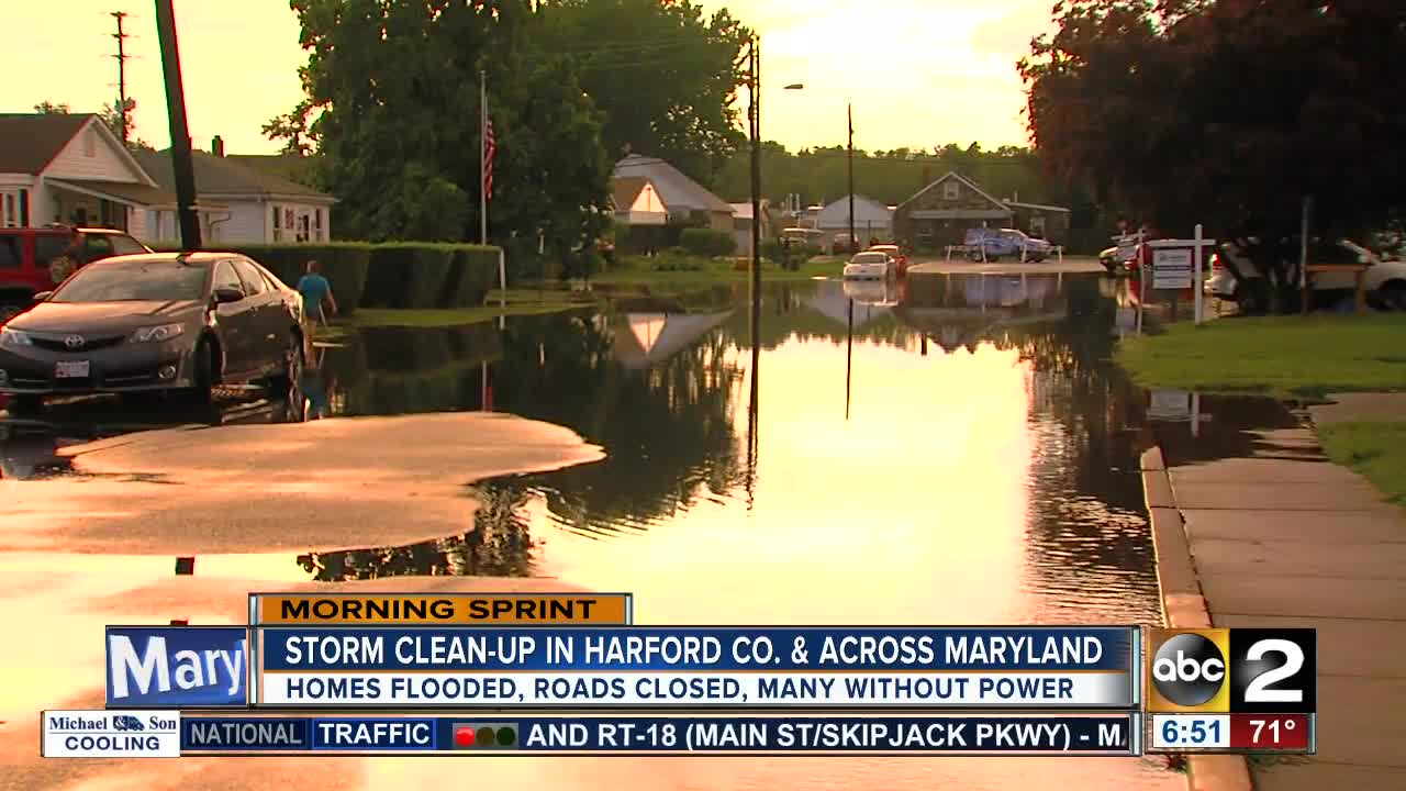 Clean-up begins after storm hits Harford County