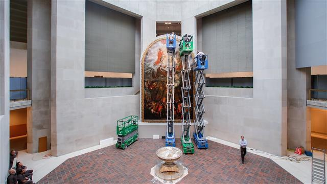 The Met Installs a Three-Story-High Painting