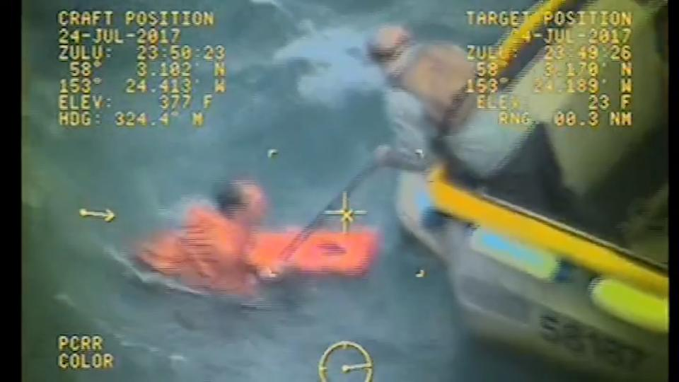 Fishing boat captain jumps into water to save crewman in Alaska