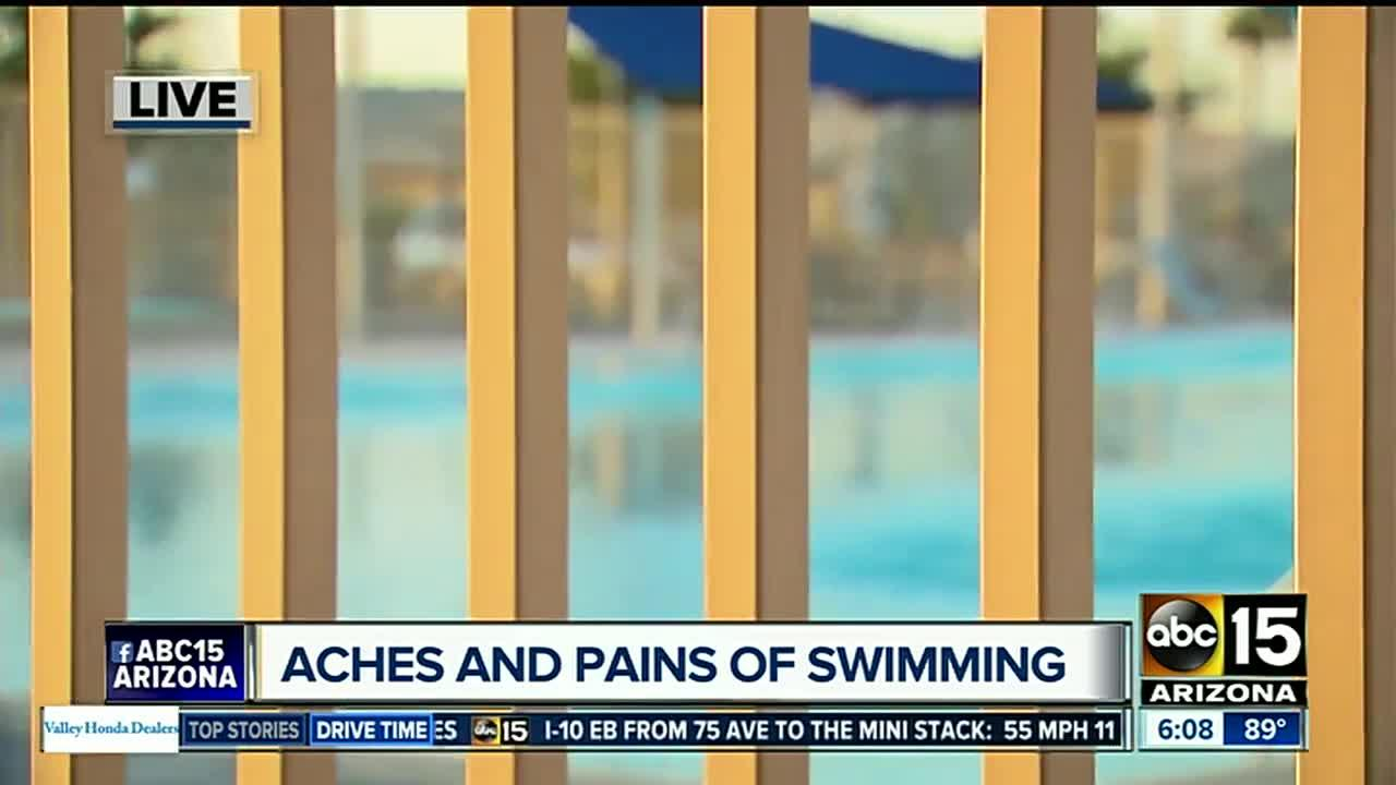 Aches and pains of swimming this summer