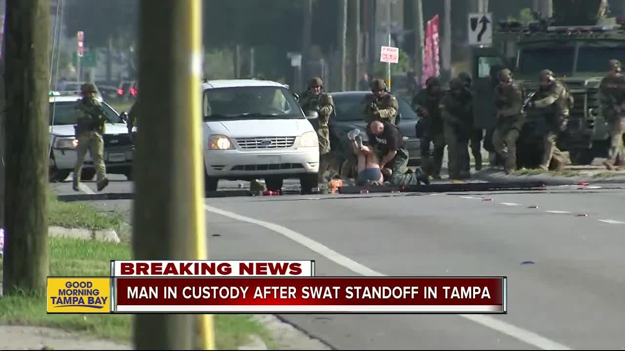 Man in custody after SWAT standoff in Tampa