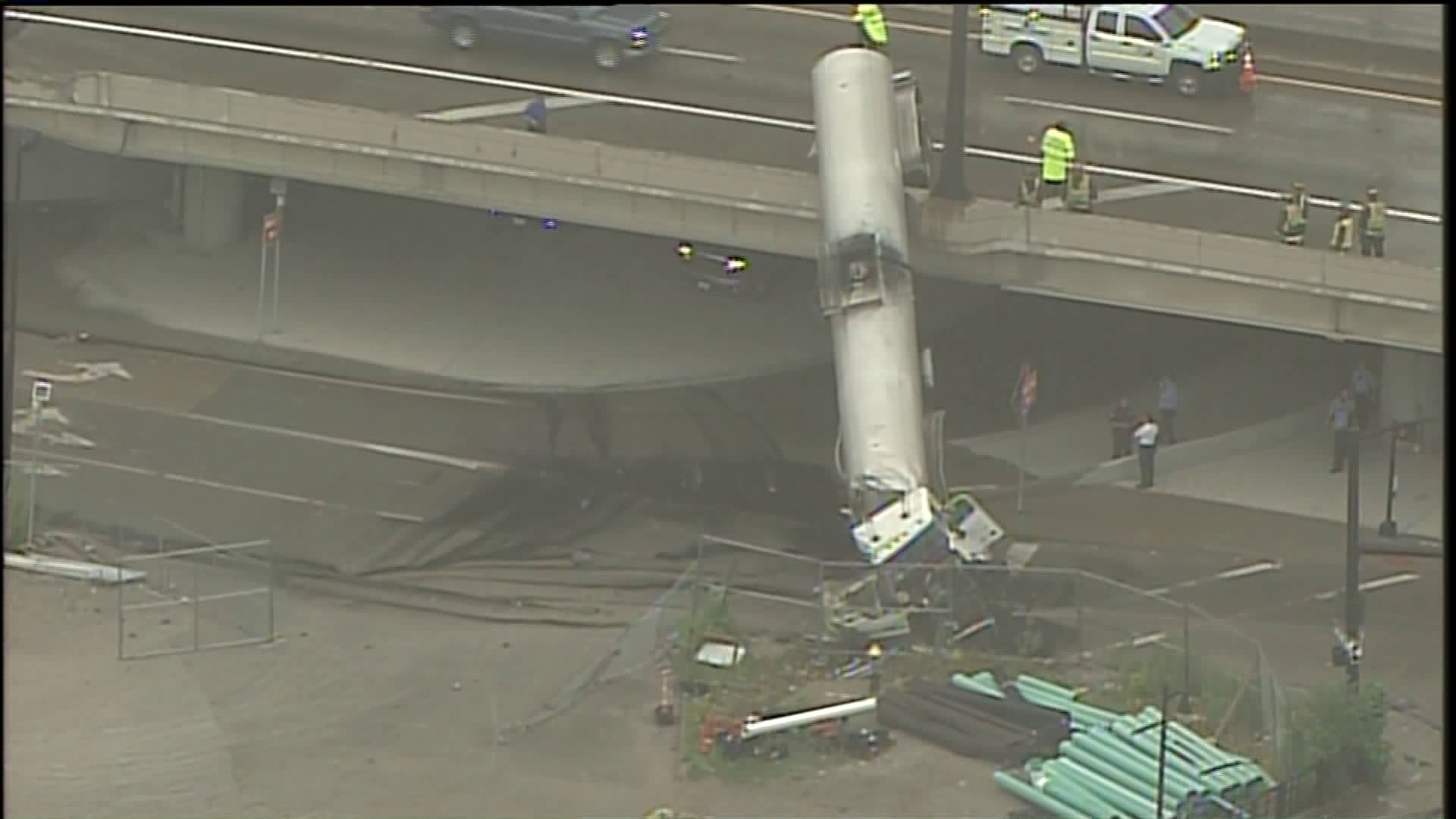 Tanker Truck Hangs Off Overpass in St. Louis After Accident