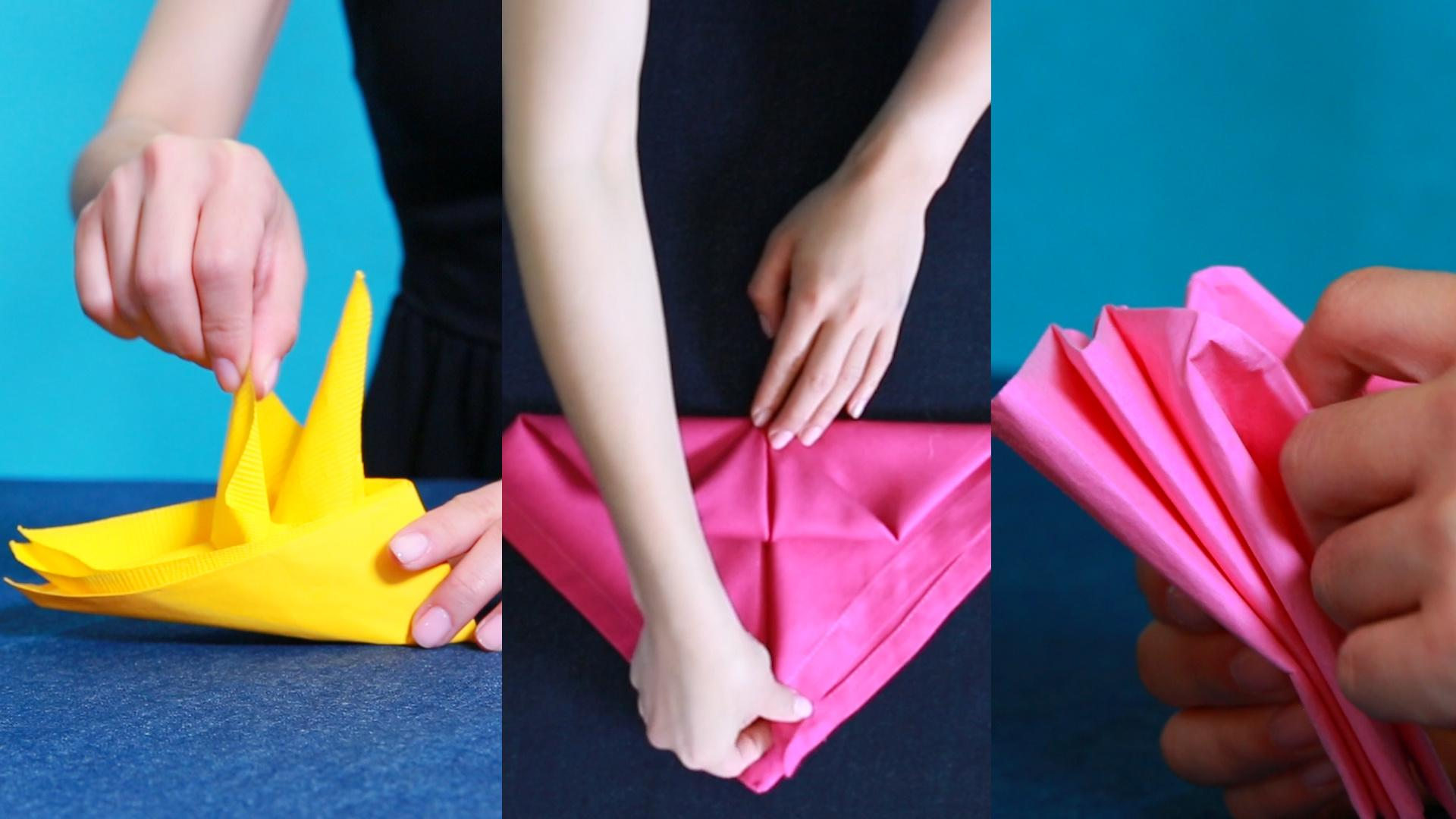 Three Easy Napkin Folds For the Fanciest Table