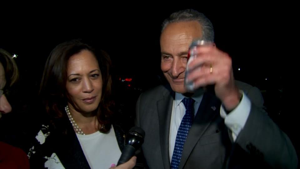 Senate Democrats toast healthcare victory