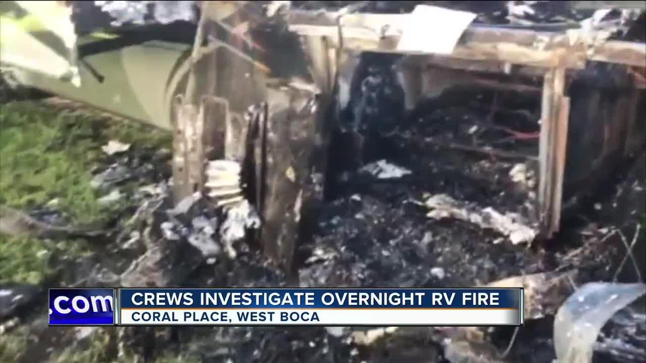 RV fire evacuates homes in West Boca