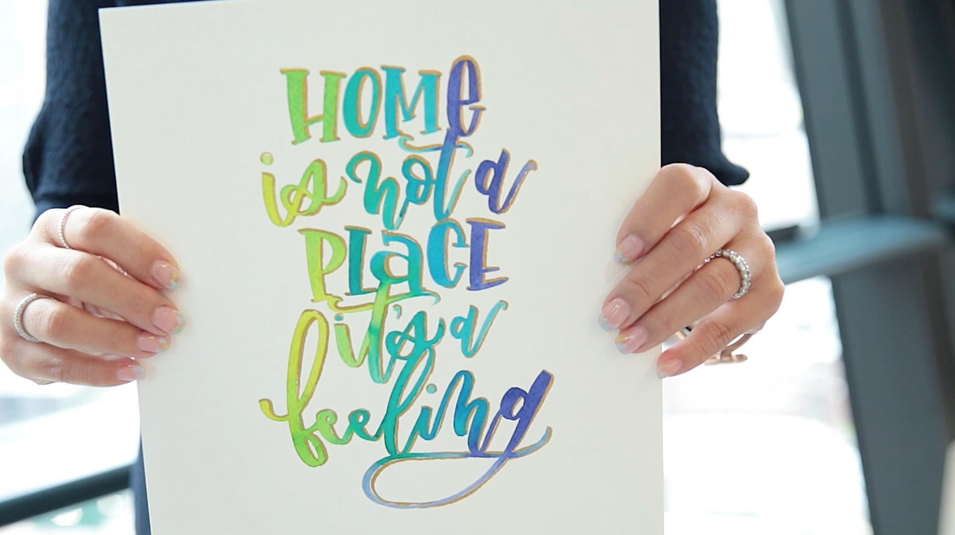 Mesmerizing Watercolor Lettering