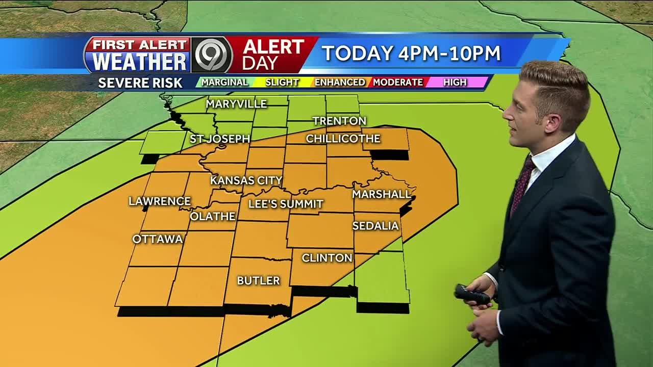 First Alert: KC in enhanced risk for severe weather later Wednesday