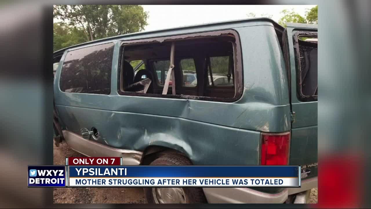 Mother struggling after her vehicle was totaled