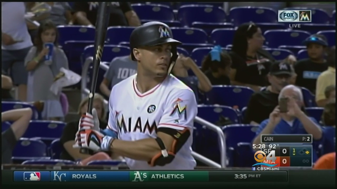 Stanton Has 2 Hits But No Homers As Marlins Beat Giants 8-1