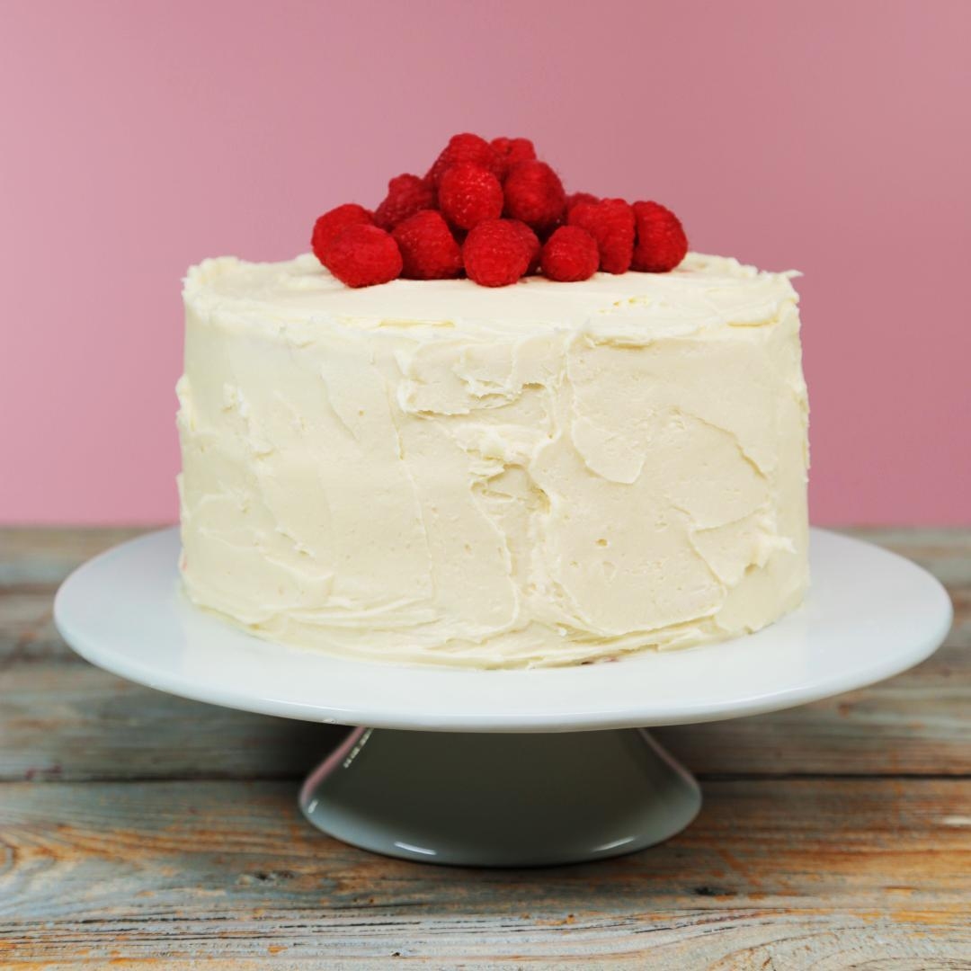 How to Make White Cake with Raspberry Curd Filling