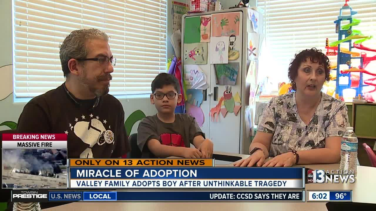 Valley family adopts boy after unthinkable tragedy
