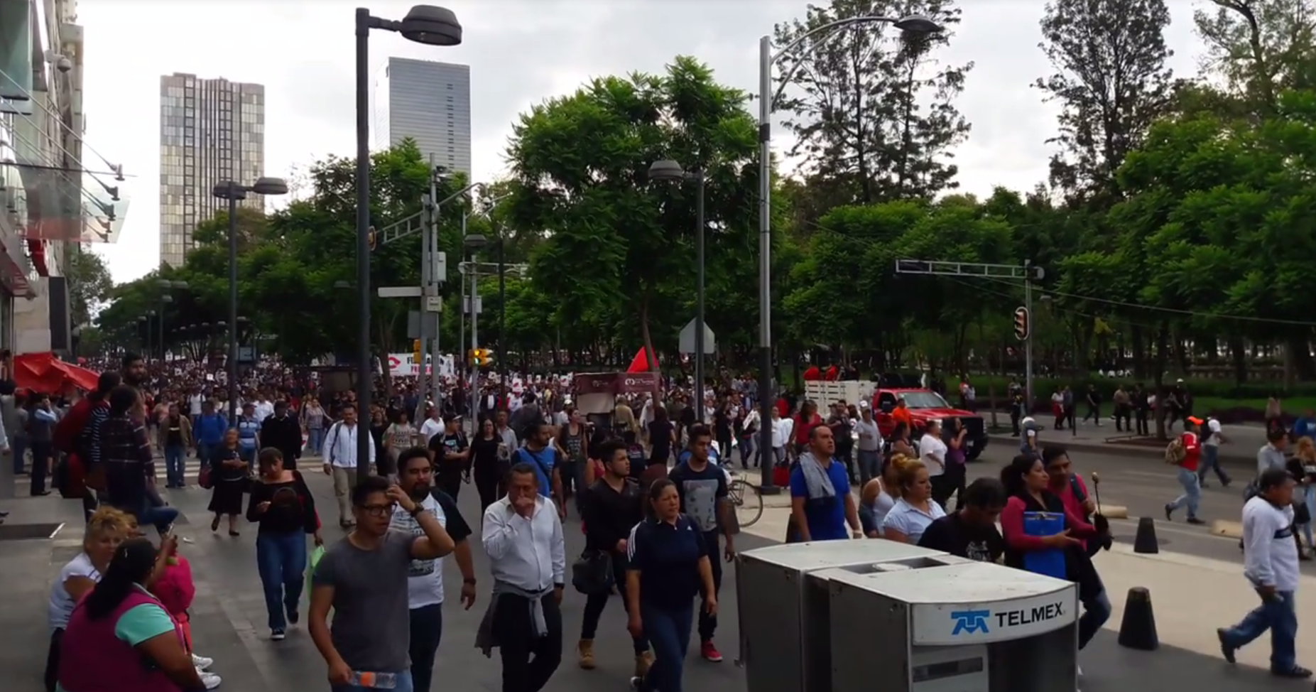Anti-NAFTA Protesters March in Mexico City as Trade Agreement Talks Begin in Washington