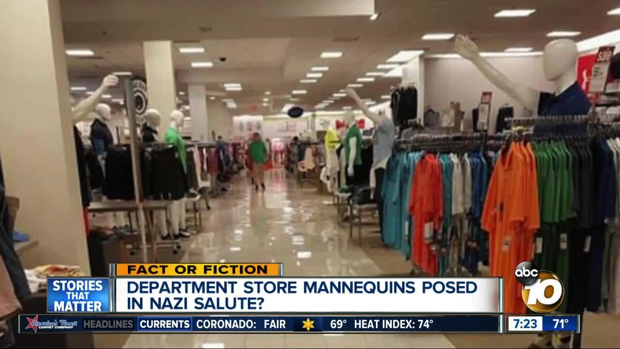 Mannequins in Nazi salute?