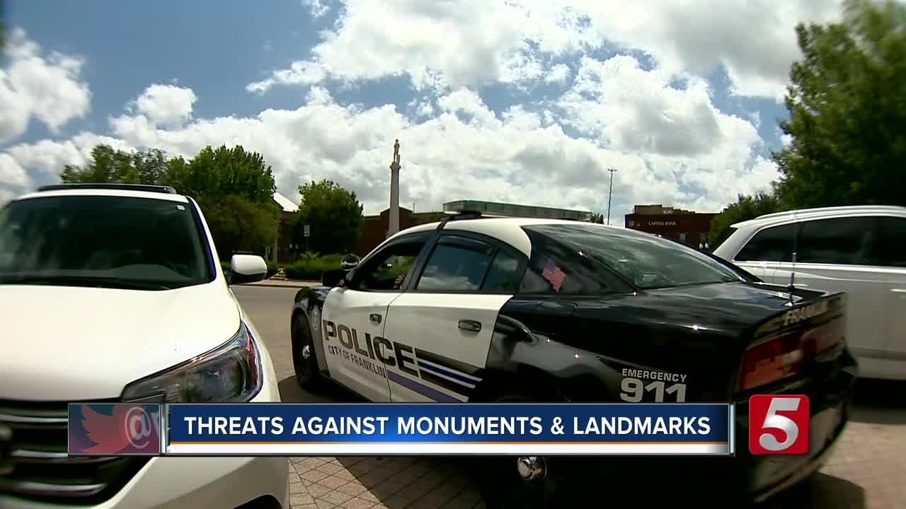 Franklin Police Monitoring Confederate Monuments