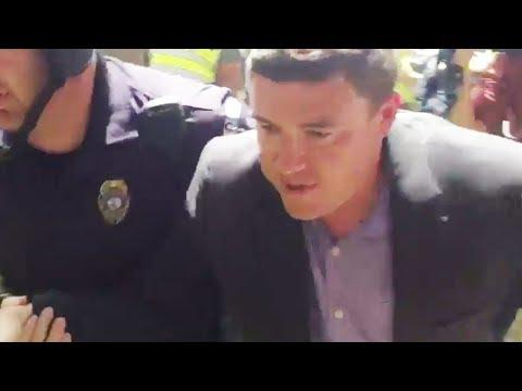 White Supremacist Flees Angry Protesters (VIDEO)