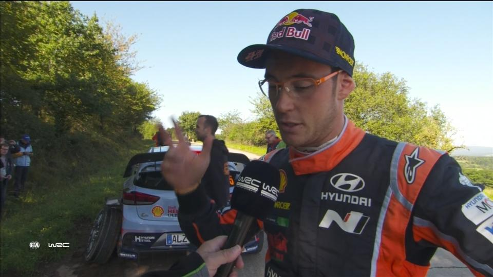 Neuville retirement in Germany hands advantage to Ogier