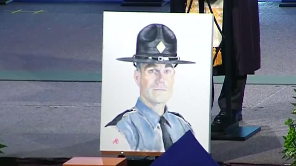 Funeral held for second trooper killed in Charlottesville helicopter crash