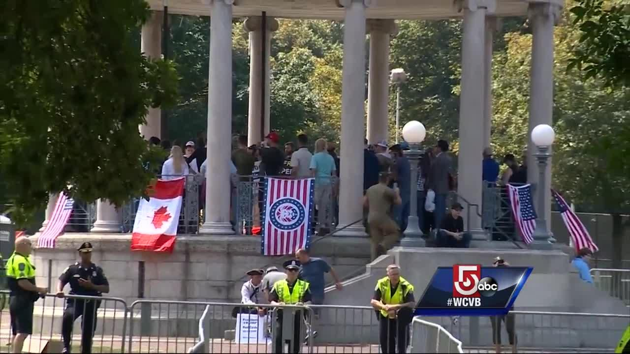 Thousands expected, only dozens show up for 'Free Speech' rally