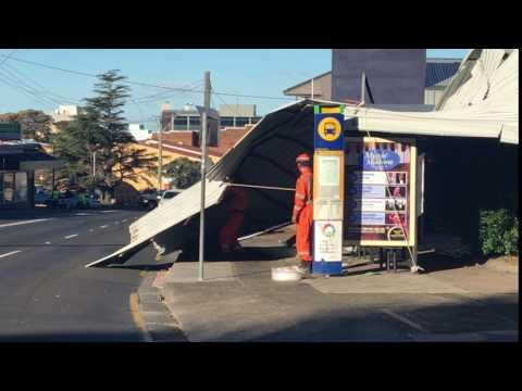 Roof Collapses in Main Street After Strong Gusts Hit State