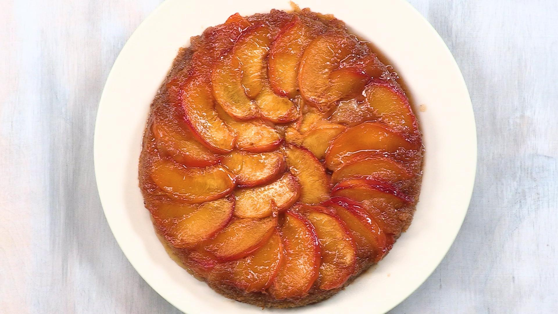 How to Make Peach Upside-Down Cake