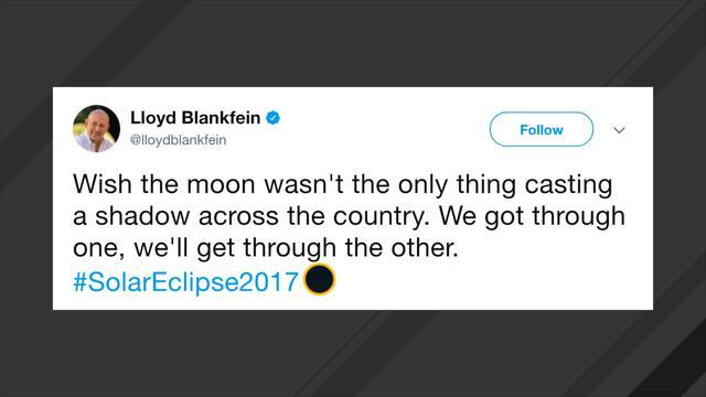 Goldman Sachs CEO Appears To Have Tweeted An Eclipse-Themed Poke At Trump