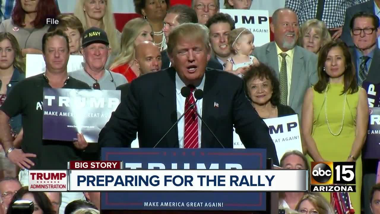 What will President Trump say at Tuesday's Phoenix rally?
