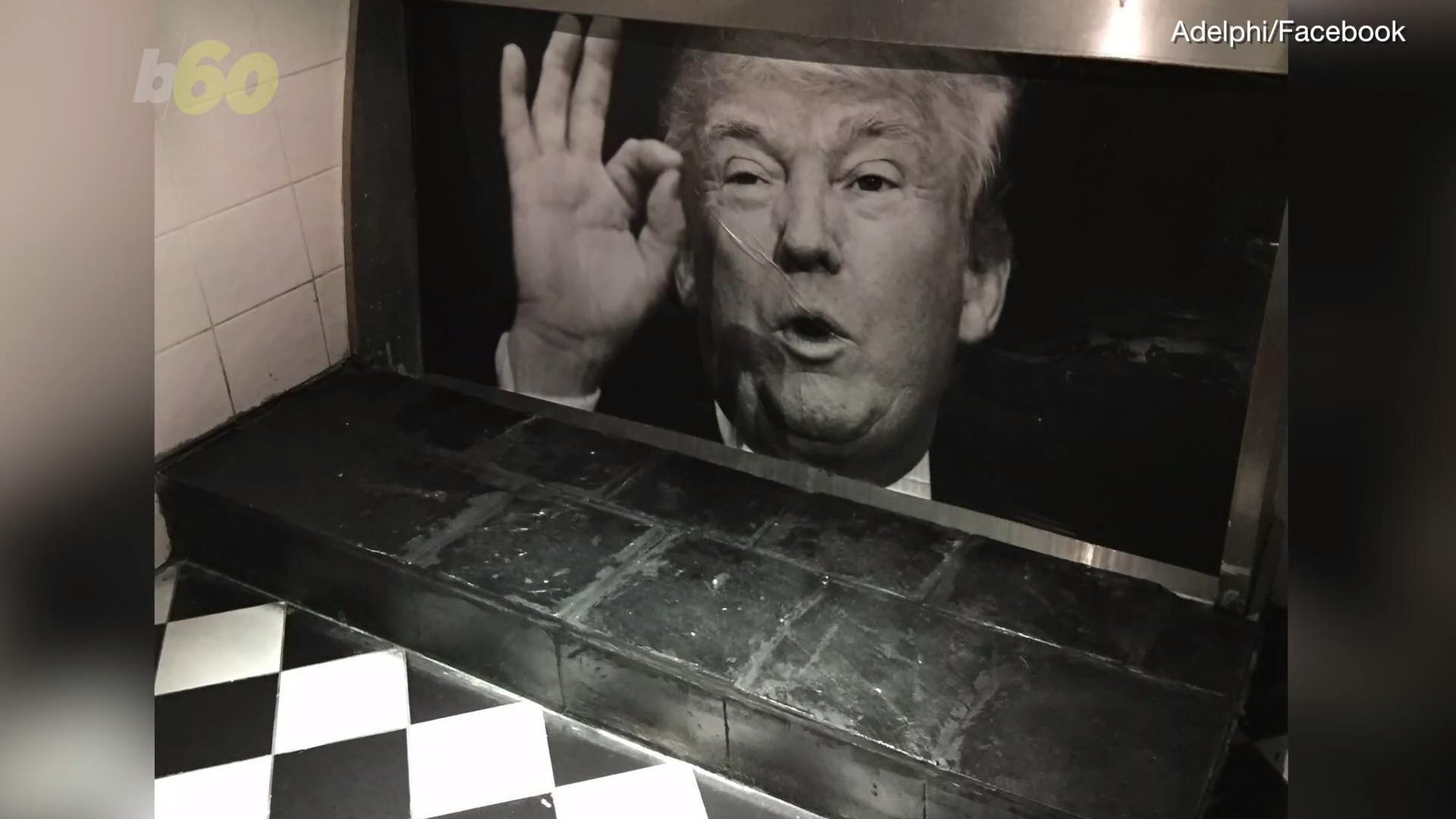 Dublin Bar Offers Reward for Stolen Urinal Mural Of Trump