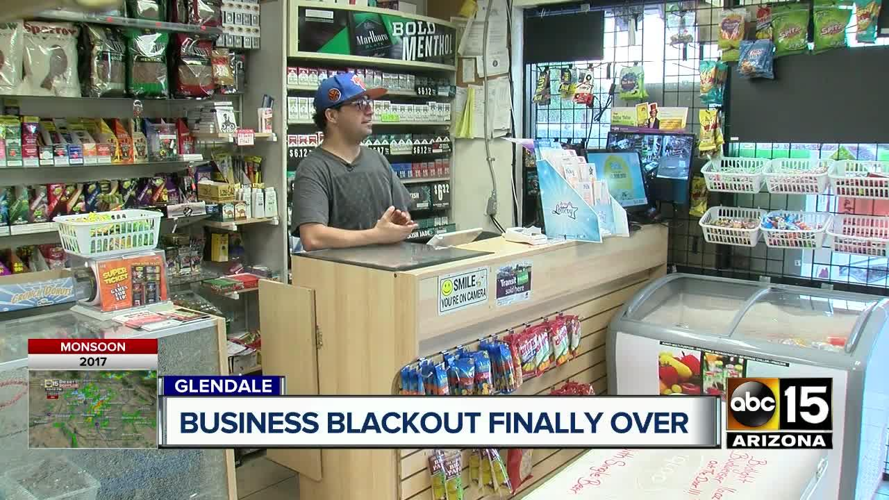 Power restored at Glendale strip mall
