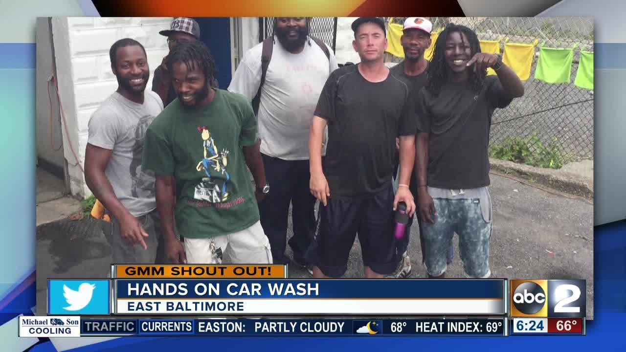 Hands On Car Wash says good morning Maryland