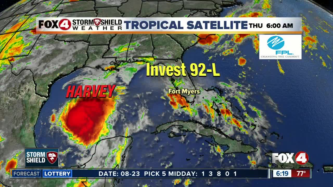 Tropical Update 6am Thursday -- T.S Harvey threatens Texas