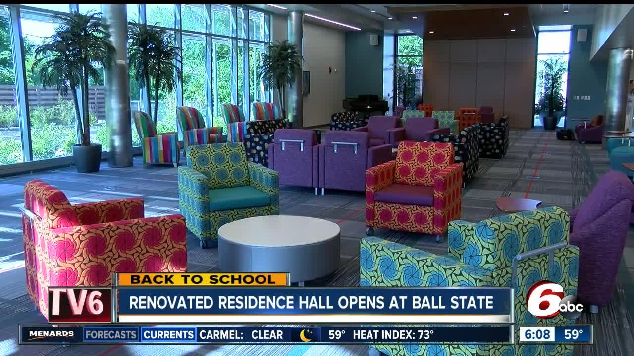 Newly renovated residence hall opens at Ball State