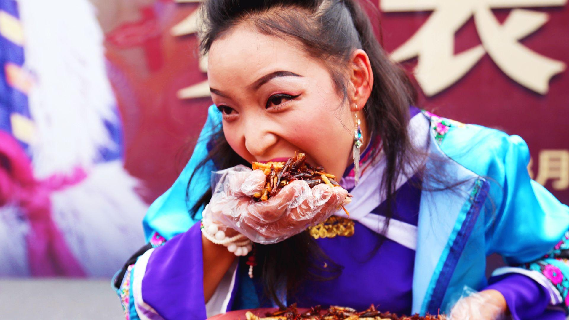 Try Not To Bug Out Over This Insect-Eating Contest in Lijiang, China