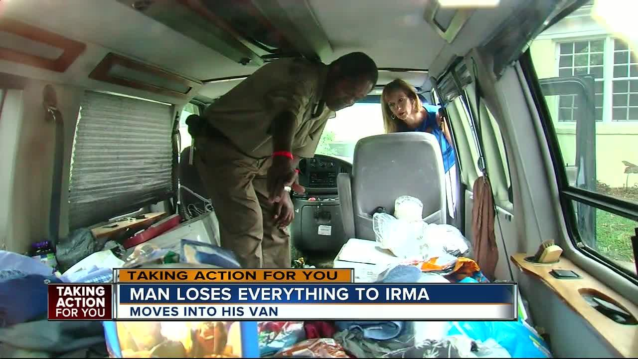 Irma victim loses everything, forced to move into his van