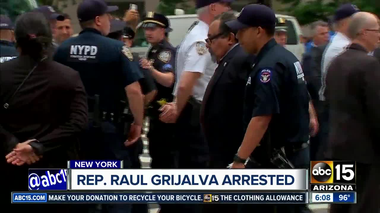 AZ Rep. Raul Grijalva arrested during protest in NY