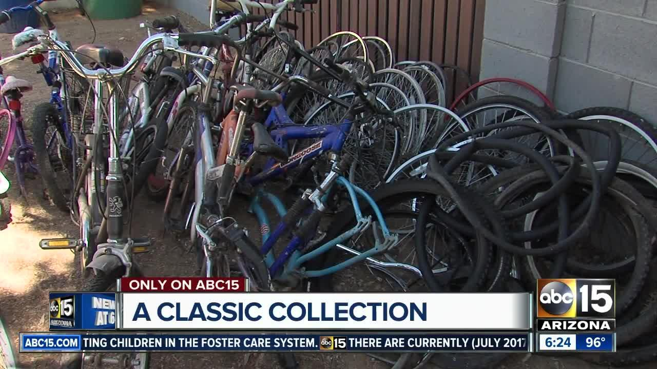 Bike collection being donated after owner passed away